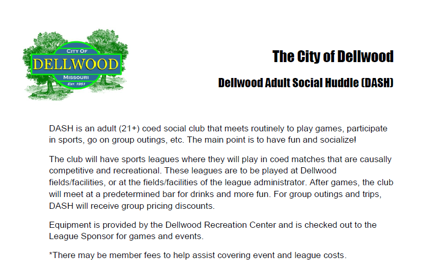 City of Dellwood DASH Flyer