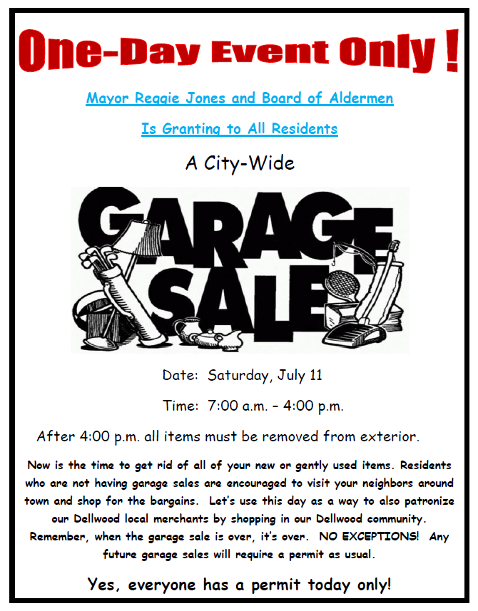 Garage Salfe Flyer